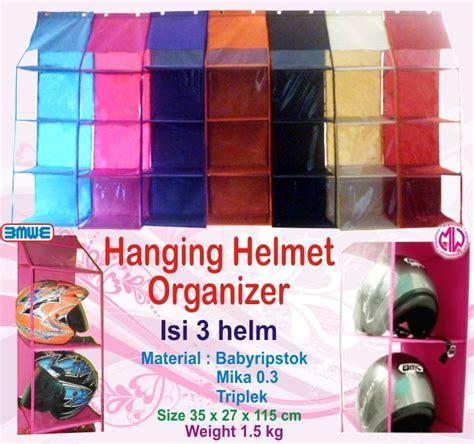 jual hanging helmet organizer polos rak helm gantung