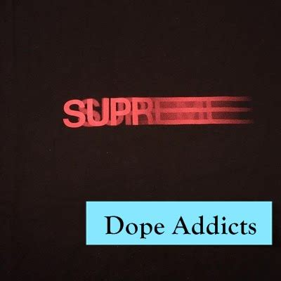 T Shirt Lacoste Addict 0 9 dope addicts streetwear supreme motion logo t shirt