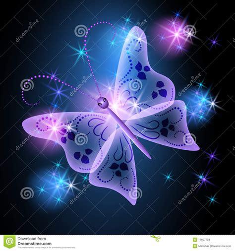 imagenes de mariposas animadas con movimiento gloeiende achtergrond met vlinder stock illustratie