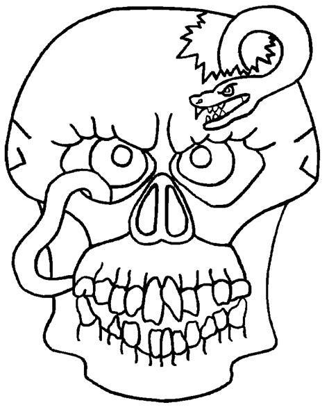imagenes de calaveras y catrinas para colorear careta calavera horrible dibujalia dibujos para