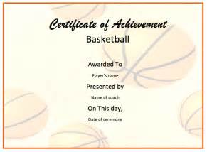 Of The Match Certificate Template by Basketball Certificate Template Format Template