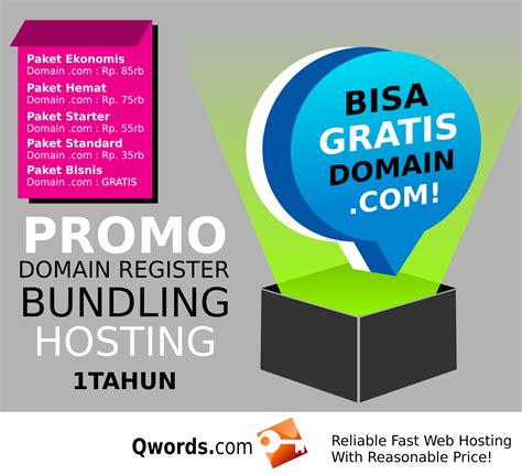 Paket Bundling 1 by Promo Bundling Hosting Domain Gratis Qwords