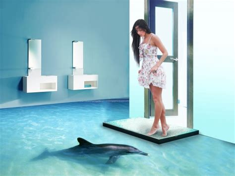Bathroom Dolphin by 3d Epoxy Flooring Is A Splash Cflas