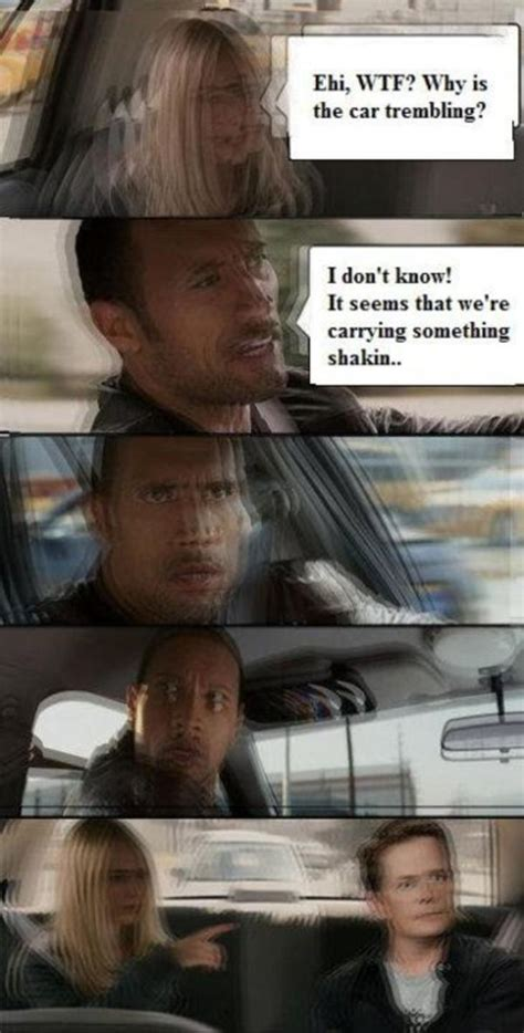 The Rock In Car Meme - dwayne johnson cheat day memes