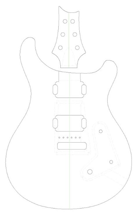 prs guitar body routing template vinyl sticker routing