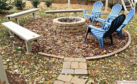 Diy Backyard Cfire Fire Pit Our Fifth House Diy Backyard Pits