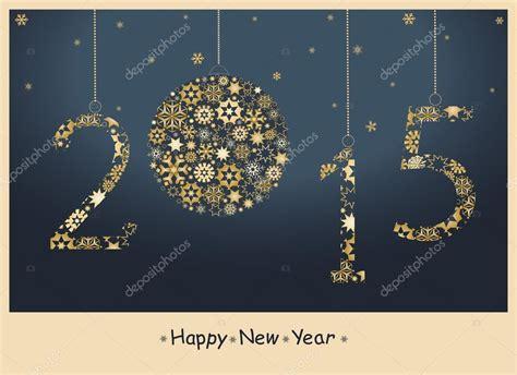 new year card 2015 vector new year 2015 greeting card stock vector 169 lagodka 52733475