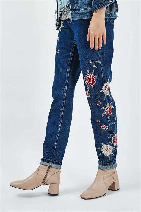 jeans pattern ladies 2016 fashion embroidery flower pattern long jeans fall