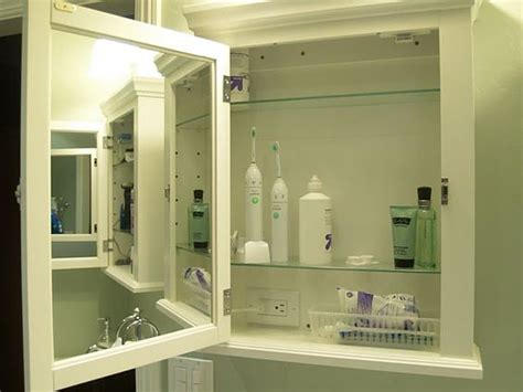 home depot medicine cabinet with outlet for toothbrush