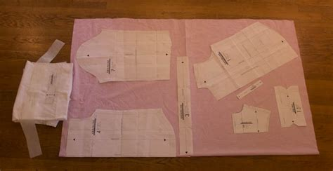 cutting a pattern grainline grainline archer sew along cutting and interfacing sew