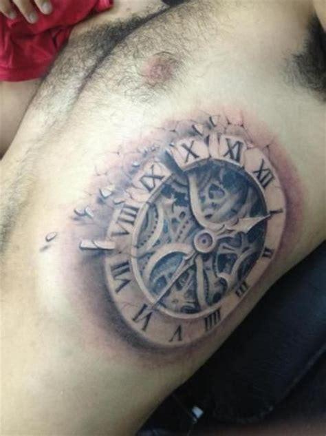 tattoo 3d real 3d real clock tattoo on rib best tattoo designs pinterest