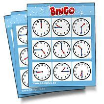 printable clock bingo schoolplus teaching resources exercises and educational
