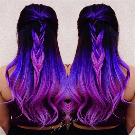 purple hair styles for black hair purple hair purple color melt with violet hair hotonbeauty