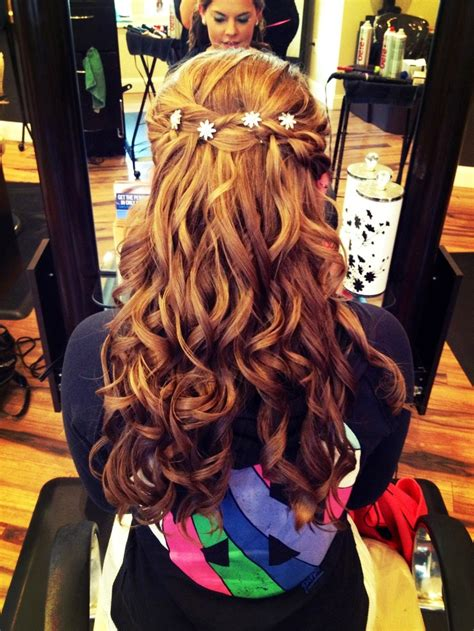 formal hairstyles half up half down curls half up half down prom updo with curls some of my work