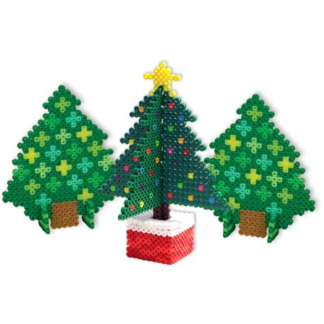 3d christmas trees perler beads
