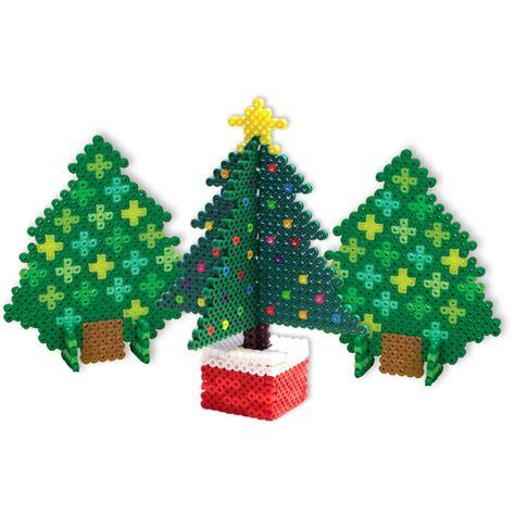3d perler bead 3d trees perler