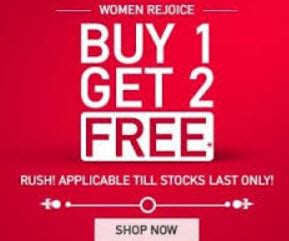 myntra buy 1 get 3 free offer on fashion product