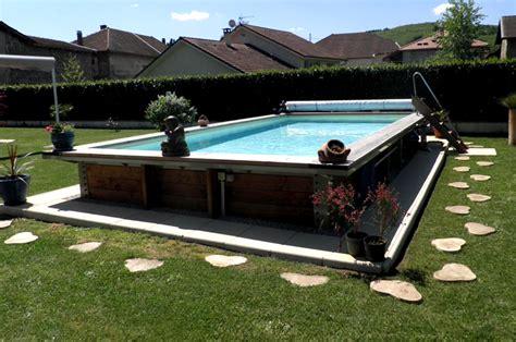 Piscine Hors Sol En Acier 2385 by Piscine Hors Sol Acier Et Bois Rectangulaire Fabrication