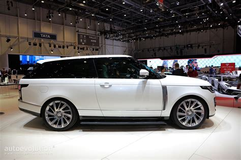 range rover coupe range rover sv coupe gets sloping roofline in shocking