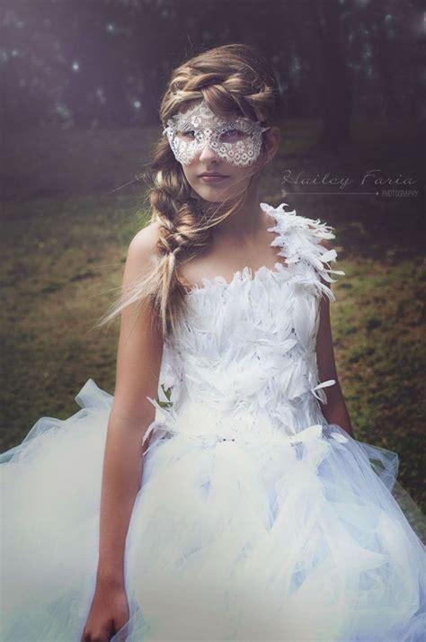 Swan Flower Tutu swan princess tutu dress feather dress flower