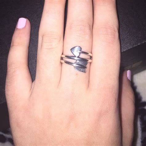printable ring sizer james avery james avery heart arrow ring size 8 willing to trade for