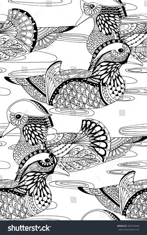 water a duck darley novel books mandarin ducks swimming water seamless zentangle stock
