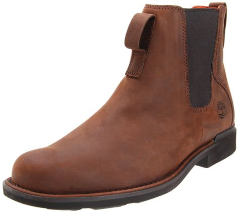 timberland mens mount washington chelsea boot in brown for
