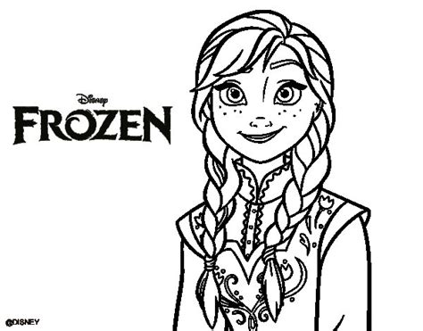 dibujos para pintar de frozen dibujo de anna de frozen para colorear dibujos net