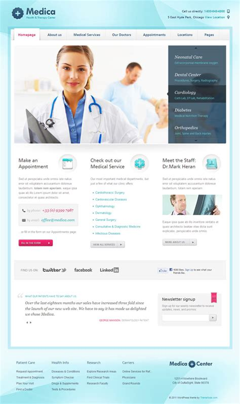 theme wordpress free health 15 professional health and medical wordpress themes
