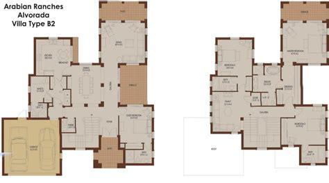 4 Bedroom Ranch Floor Plans alvorada b2 arabian ranches dubai floor plans