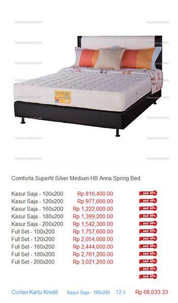 Kasur Bed Di Jogja kasur comforta harga bed termurah di indonesia
