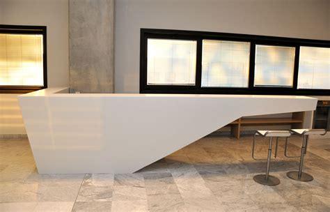 Kiton Banco Reception In Coria Corian Reception Desk