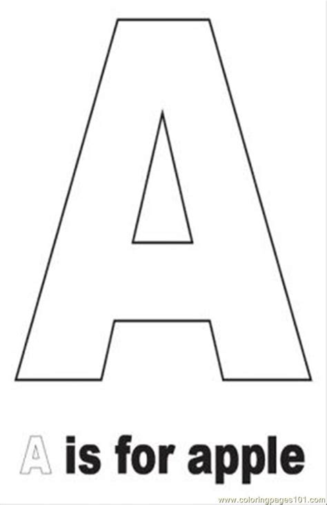 Printable Alphabet A4 Size | free coloring pages of a4 letters