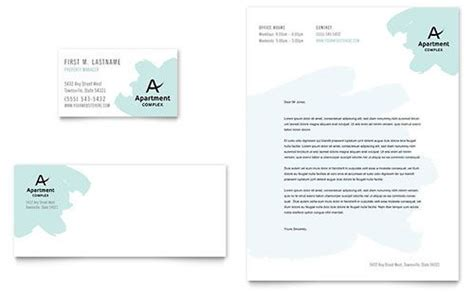 What Are The Properties For Buisness Card Templates by Apartment Letterhead Template