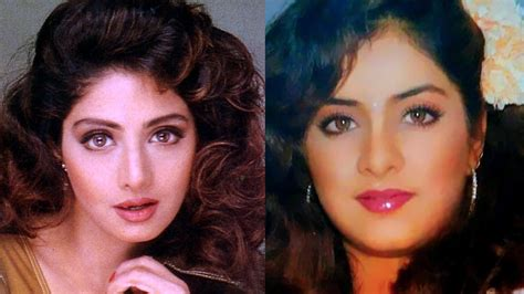 actress divya bharti songs the story behind mysterious connection between sridevi and