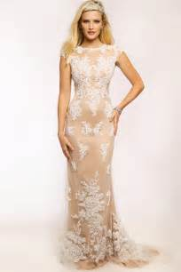 champagne lace dress dressed up