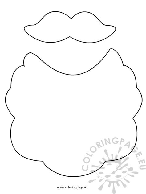 Mustache Face Coloring Page Coloring Pages Moustache Coloring Pages