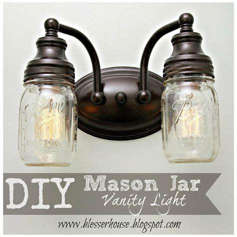 Diy Mason Jar Vanity Light Light Jar Diy