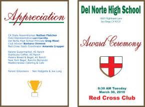 awards ceremony program template cross club at norte high school award ceremony