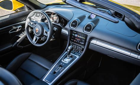 porsche boxster 2017 interior 2017 porsche 718 boxster cars exclusive videos and