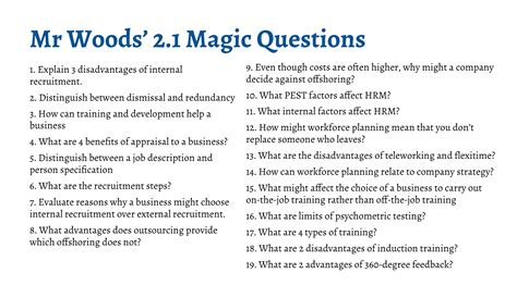 section 3 business ib business management magic questions section 2