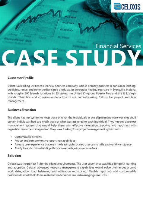 celoxis client case study financial services