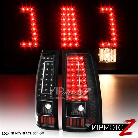 led tail lights for 97 chevy silverado 1999 2002 chevrolet silverado black led brake tail lights