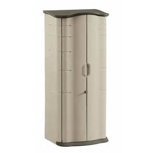 rubbermaid vertical storage shed 17 cu ft the home