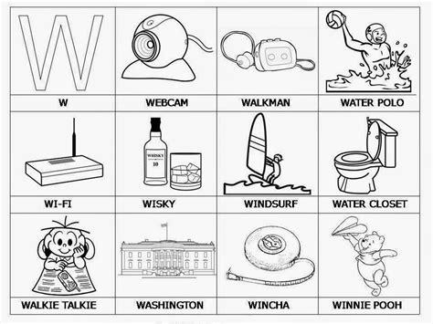 imagenes de animales por la letra w palabras que comienzen con w dibujos para imprimir