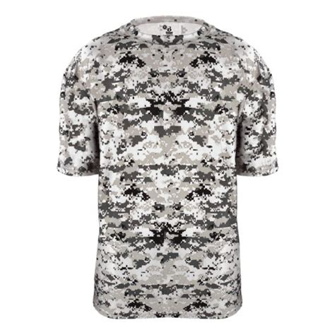 Team White Camo digital camo jersey 4180 performance b by badger
