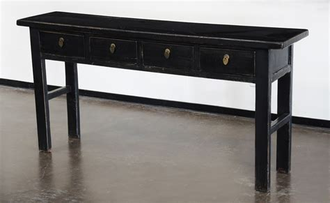 Black Console Table With Drawers Black Console Sofa Entry Table With Drawers Altar Console Tables