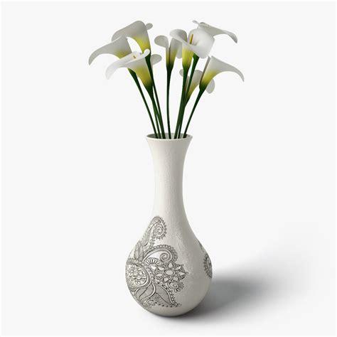 Design A Flower Vase | 3ds max calla flower design vase