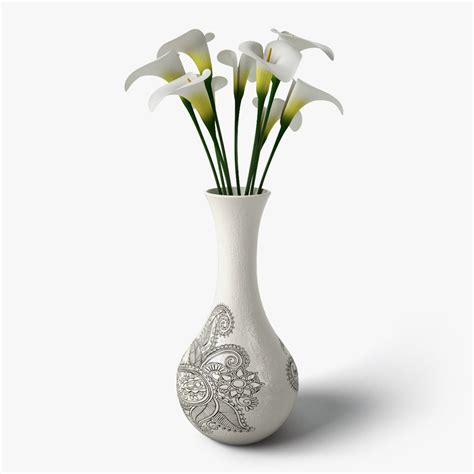 design of flower vase 3ds max calla flower design vase