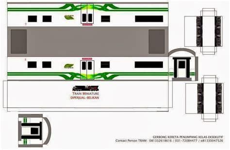 Miniatur Kereta Api Gerbong pola miniatur gerbong gambar gambar replika kereta api kertas